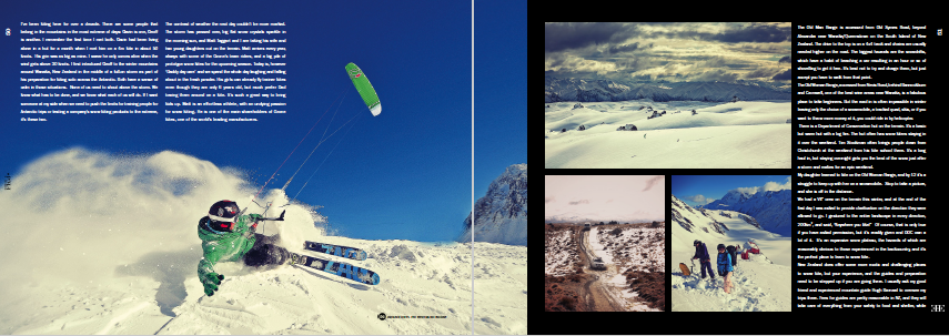 Ozone kiteboarding team snow kiting in New Zealand.