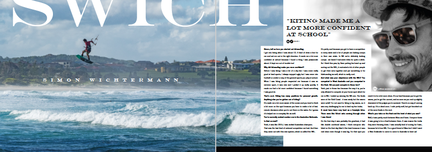 Airush Kitesurfing teamrider Simon Witcherman - Freedom Kitesurfing Magazine Issue 5