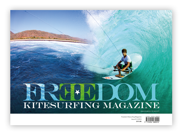 Kitesurf Magazine, Keahi De Aboitiz, Freedom Kite Mag Cover Issue 1