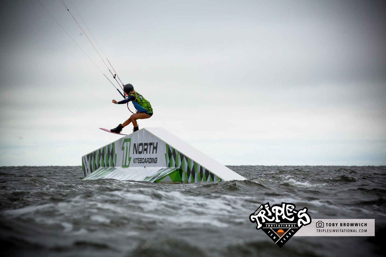 Colleen's domination of female obstacle riding has continued into a 3rd year. With sponsors like North Kiteboarding helping so much it's no wonder!