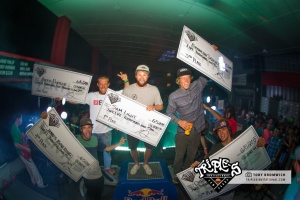 Real Kiteboarding Triple S, Men's winners 2015
