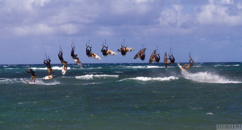 Back roll kitesuring