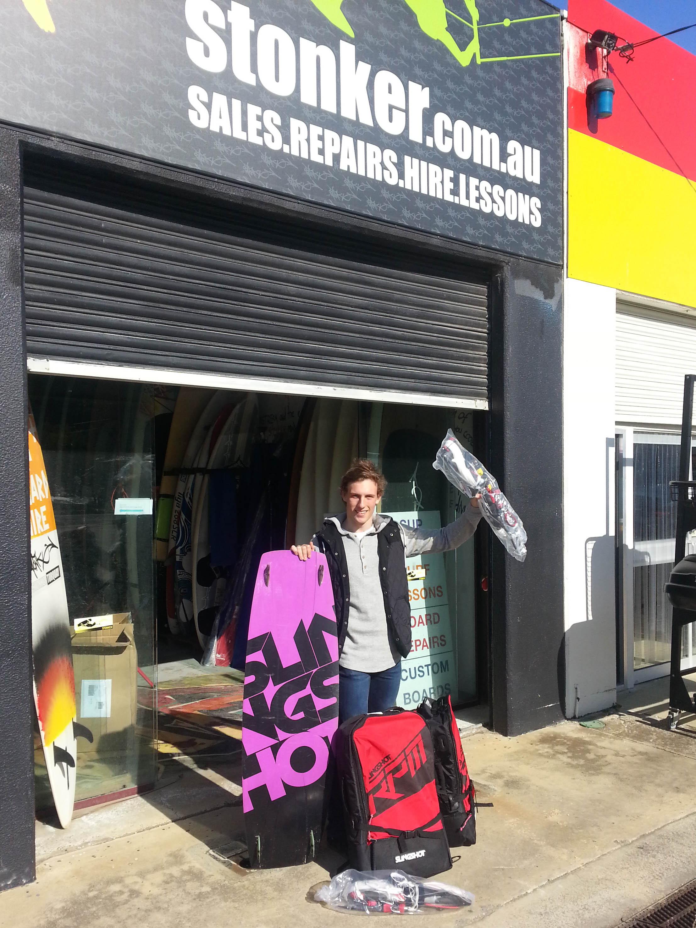 Slingshot kiteboarding, Slingshot Australia, Slingshot RPM kite, Slingshot Vision board