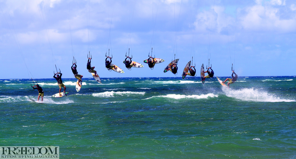 Kitesurf Backroll with Reo Stevens