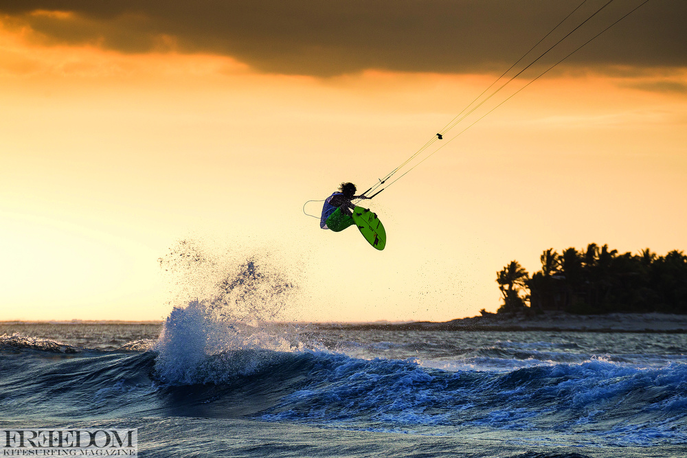 Ian Alldredge - 20 knots, sunset, palm trees, cool beers - Life is good.