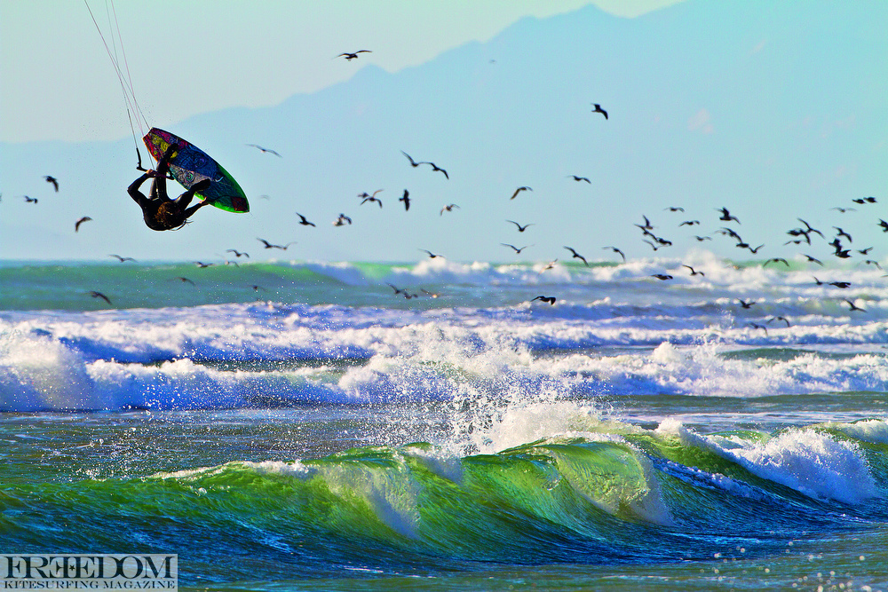 This is the stretch of coast i learned to both shoot kitesurfing and learned to kite. I love the light, the coastiline, the cold pacific ocean. Ian alldredge does too, all flipped out in Ventura, California.