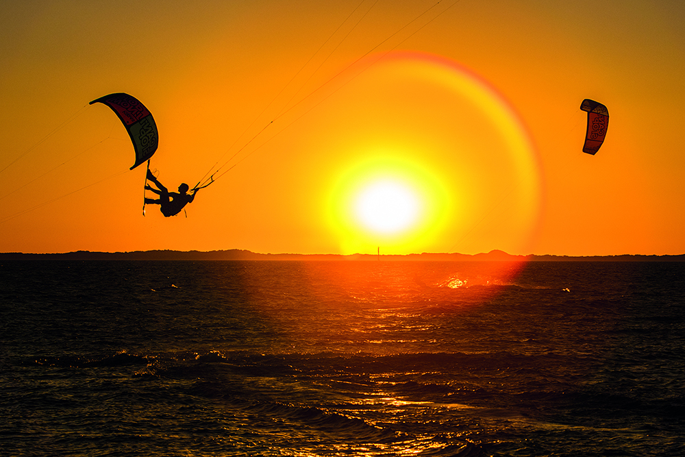 Aaron hadlow makes the most of a long summers day in west oz