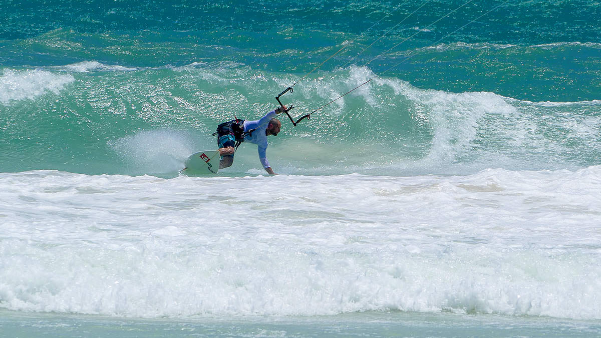 Bottom turning into pole position Richards Sils took out 1st place in the waves