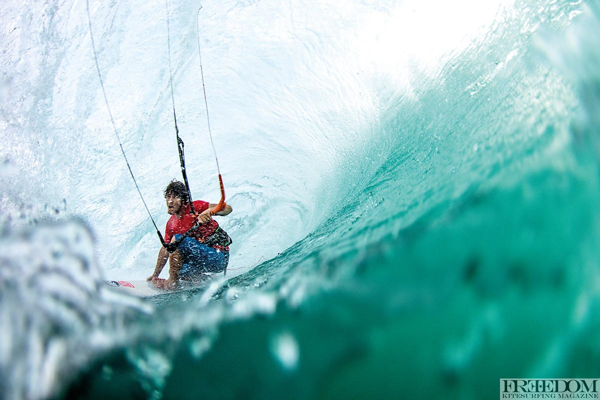 Keahi as deep as he can be. For some reason he makes more of these than he doesn't . Photo- Jason Wolcott Liquideye