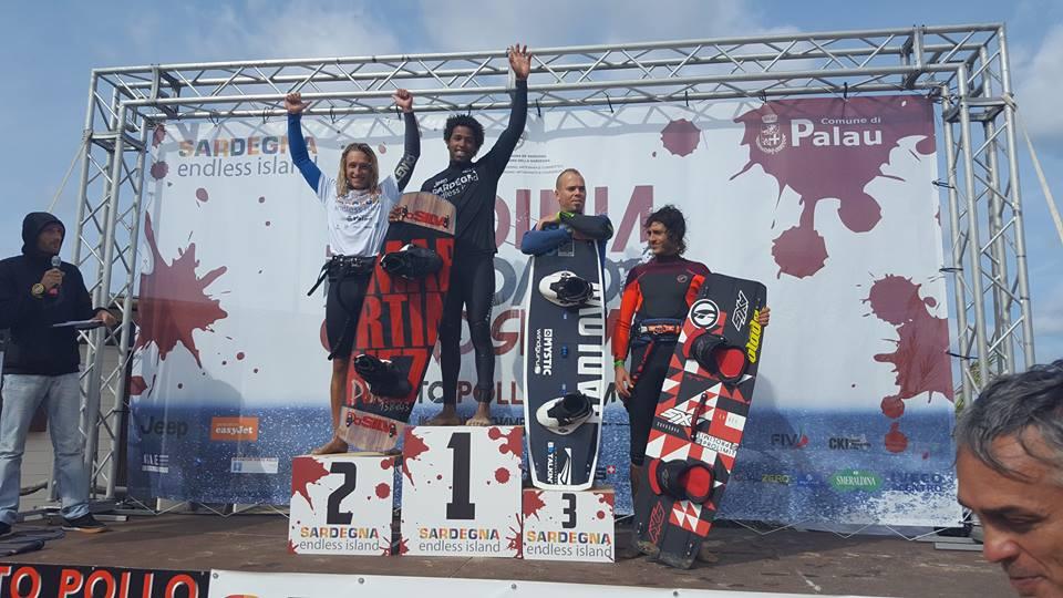 The Sardinia Grand Slam 2016 Big Air Mens Podium