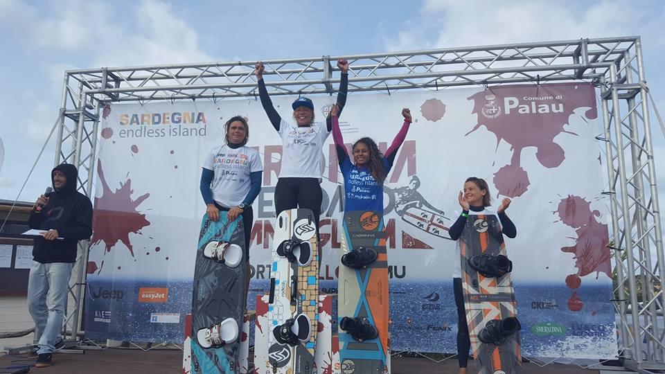 The Sardinia Grand Slam Big Air Women's Podium