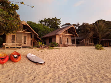 The beach front cabins
